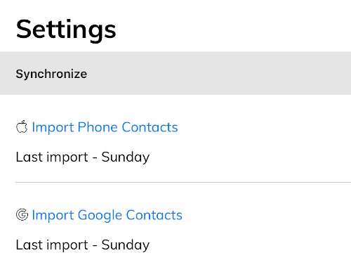 Import phone contacts